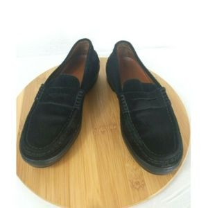 TOD'S Vibram Black Suede Leather Loafers Shoes